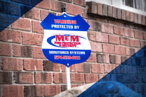 M&M Fire Protection & Security - Home Security Sign - Residential Security Camera and Security Systems - Northern Indiana Service