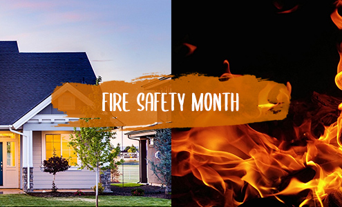 Fire Prevention Month - October 2021 - Tips to Keep Your Family Safe from Fires and House Fires - M&M Fire Protection & Security - Goshen, IN